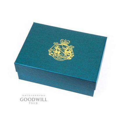 Коробка с печатью логотипа картонная