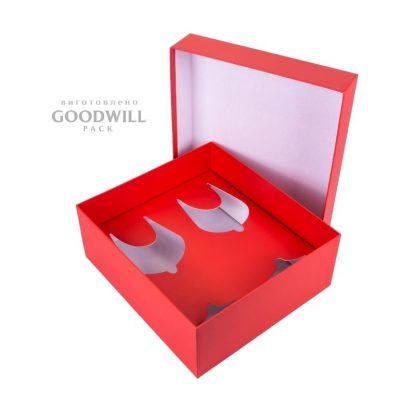 Коробка внешняя обработка мелованная бумага с печать логотипа фото