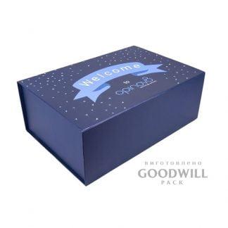 Коробка з логотипом для корпоративних подарунків фото
