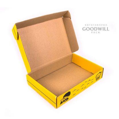 Печать на коробке из микрогофрокартона фото