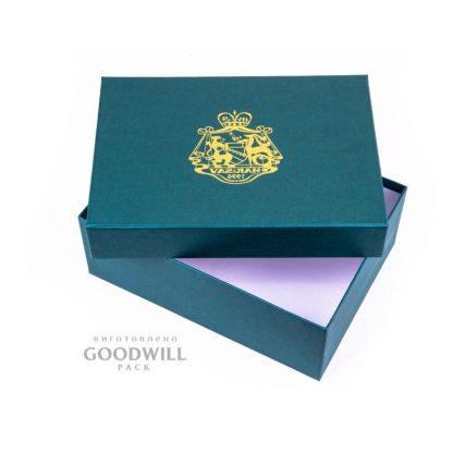 Шовкортафаретний друк на коробці з логотипом