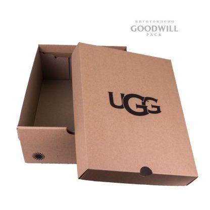 самосборная коробка с откидным верхом фото